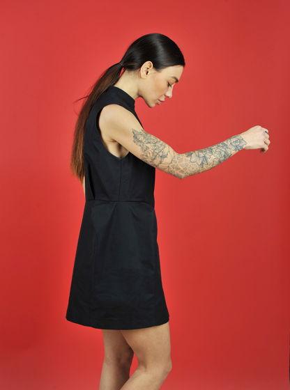 Черное платье без буравов