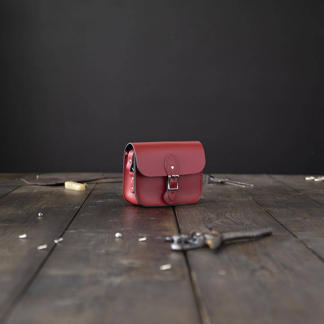 Red Hipster Leather Crossbody Bags