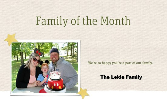 Family of the Month - The Lekie Family