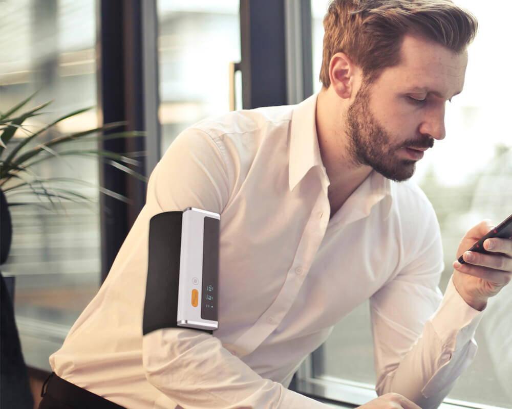 Digital blood pressure monitor with free app