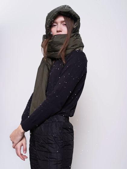 Капюшон утепленный с шарфом