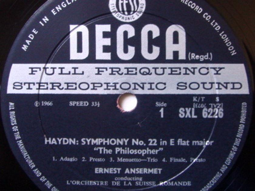 DECCA SXL-WB-ED2 / ANSERMET, - Haydn The Philosopher Symphonies No.22 & 90, NM!