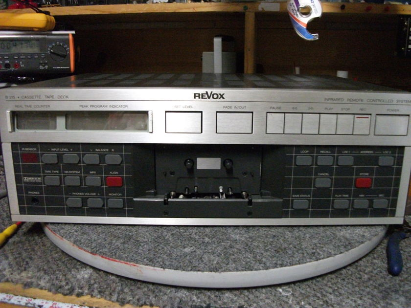 Revox B 215 Cassette Deck Upgraded 84 times to the max! A rare top Cassette Deck
