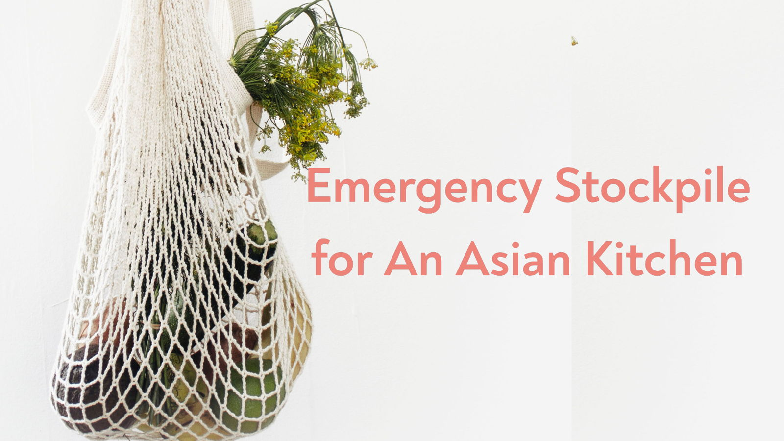 Emergency Stockpile for An Asian Kitchen