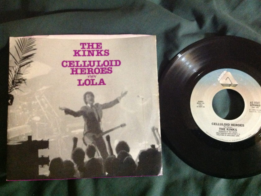 The Kinks - Celluloid Heroes/ Lola 45 With Sleeve
