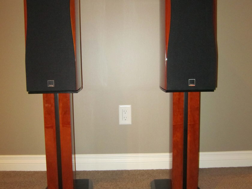 Dali Loudspeakers Helicon 300 Cherry Finish with matching stands