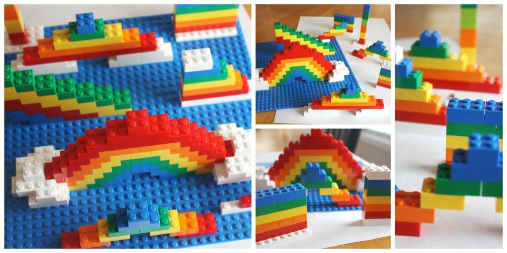 Lego rainbows
