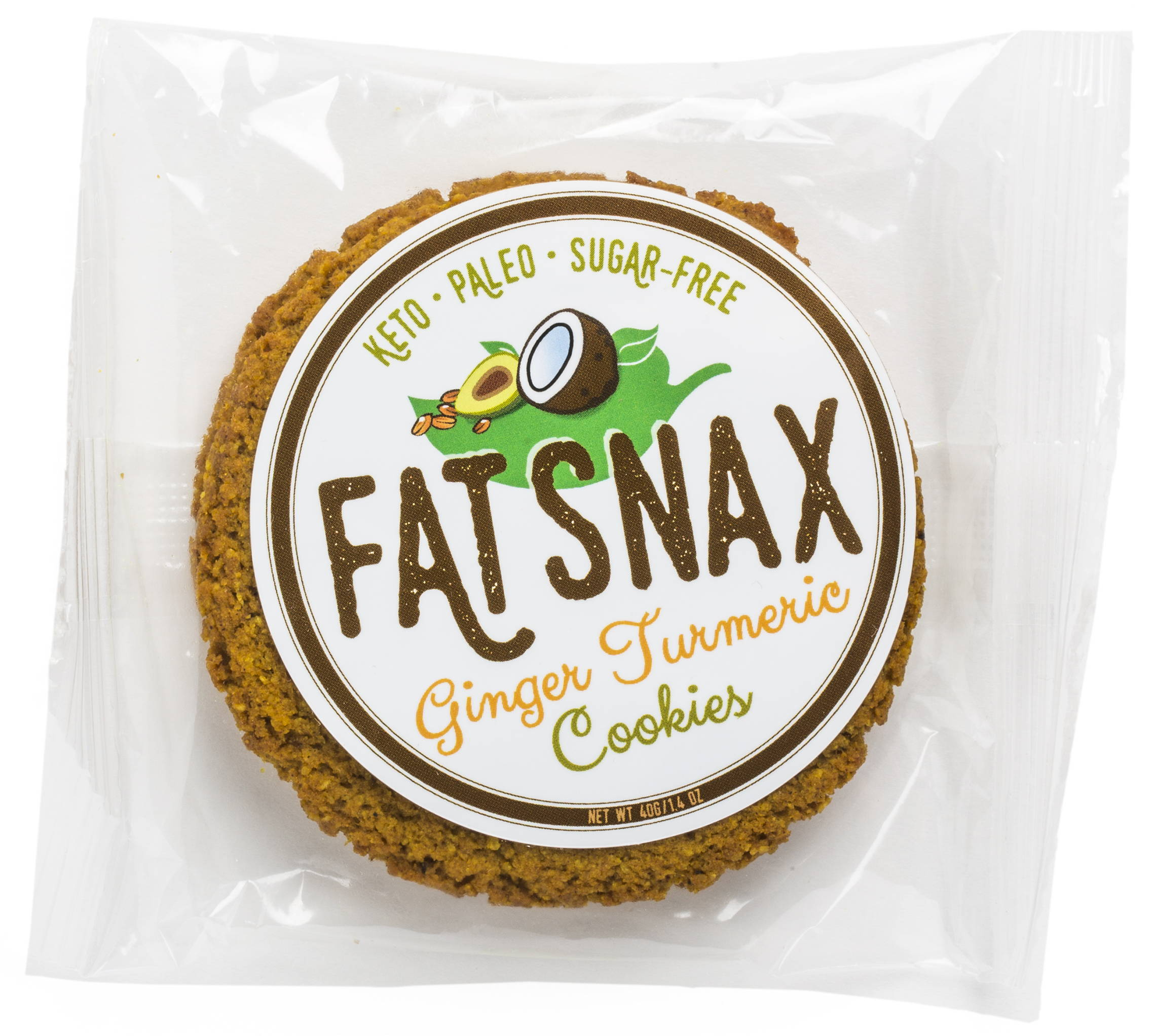 Fat Snax Ginger Turmeric Cookies