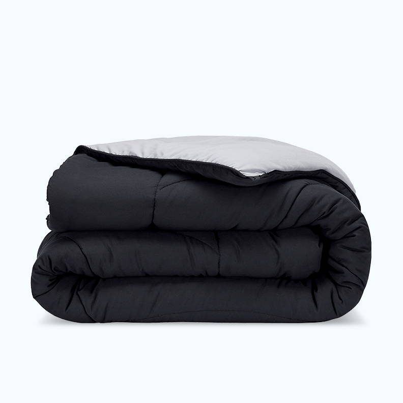 sleep zone bedding website store products collection all season reversible comforter dark grey gray