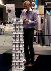 This guy made all of the monuments with playing cards. Extremely cool! Crowd stopper in the exhibit hall.