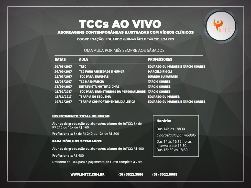 TCCs ao vivo: abordagens contemporâneas ilustradas com vídeos clínicos
