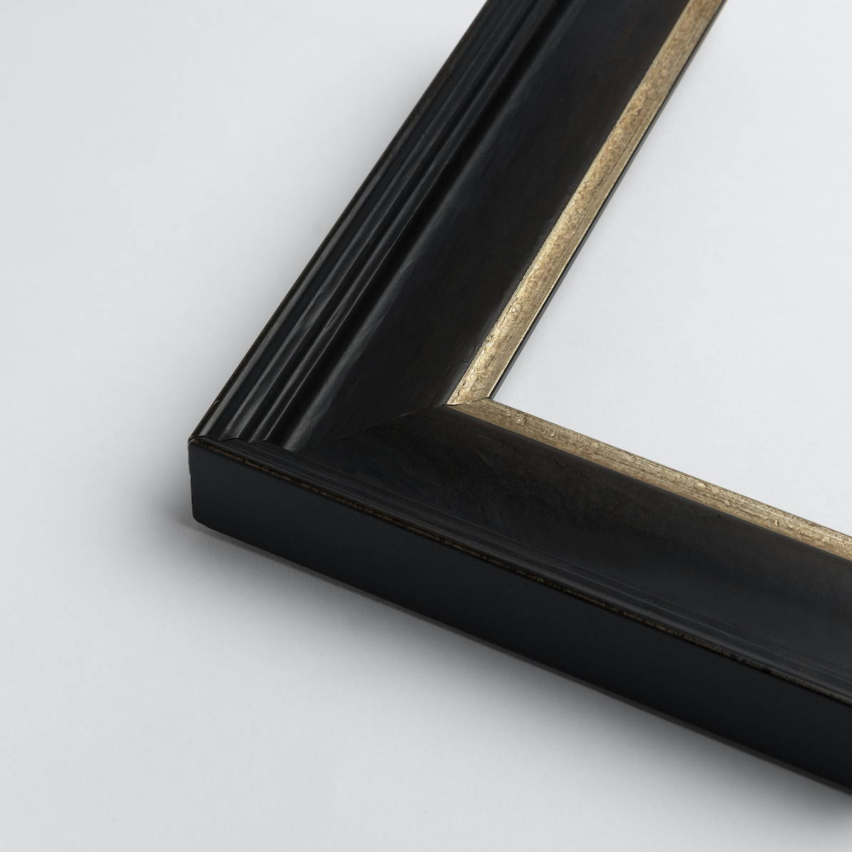 Traditional Black Frame with Pewter Edge by FRAMING TO A T
