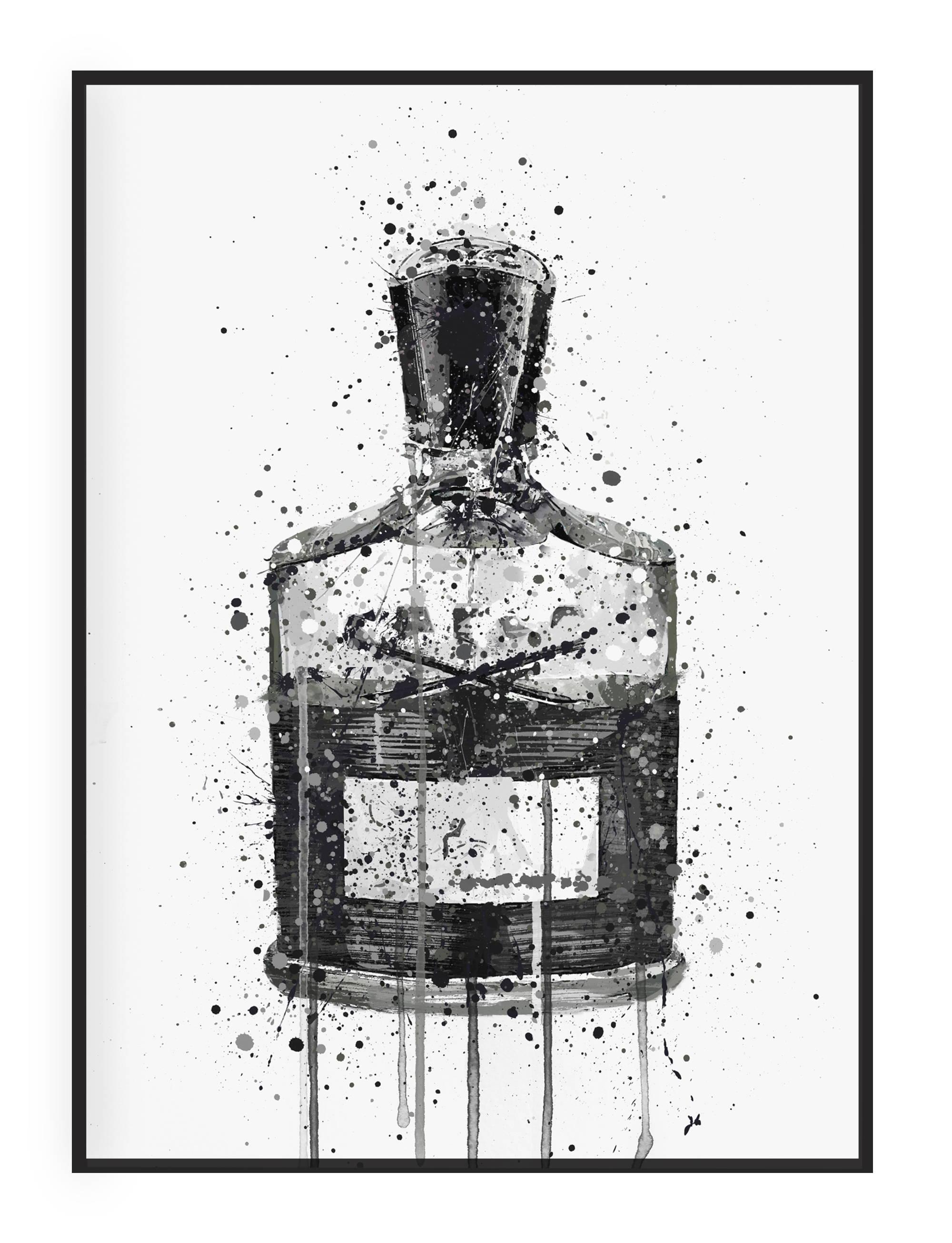 Men's Aftershave Wall Art Print Illustration