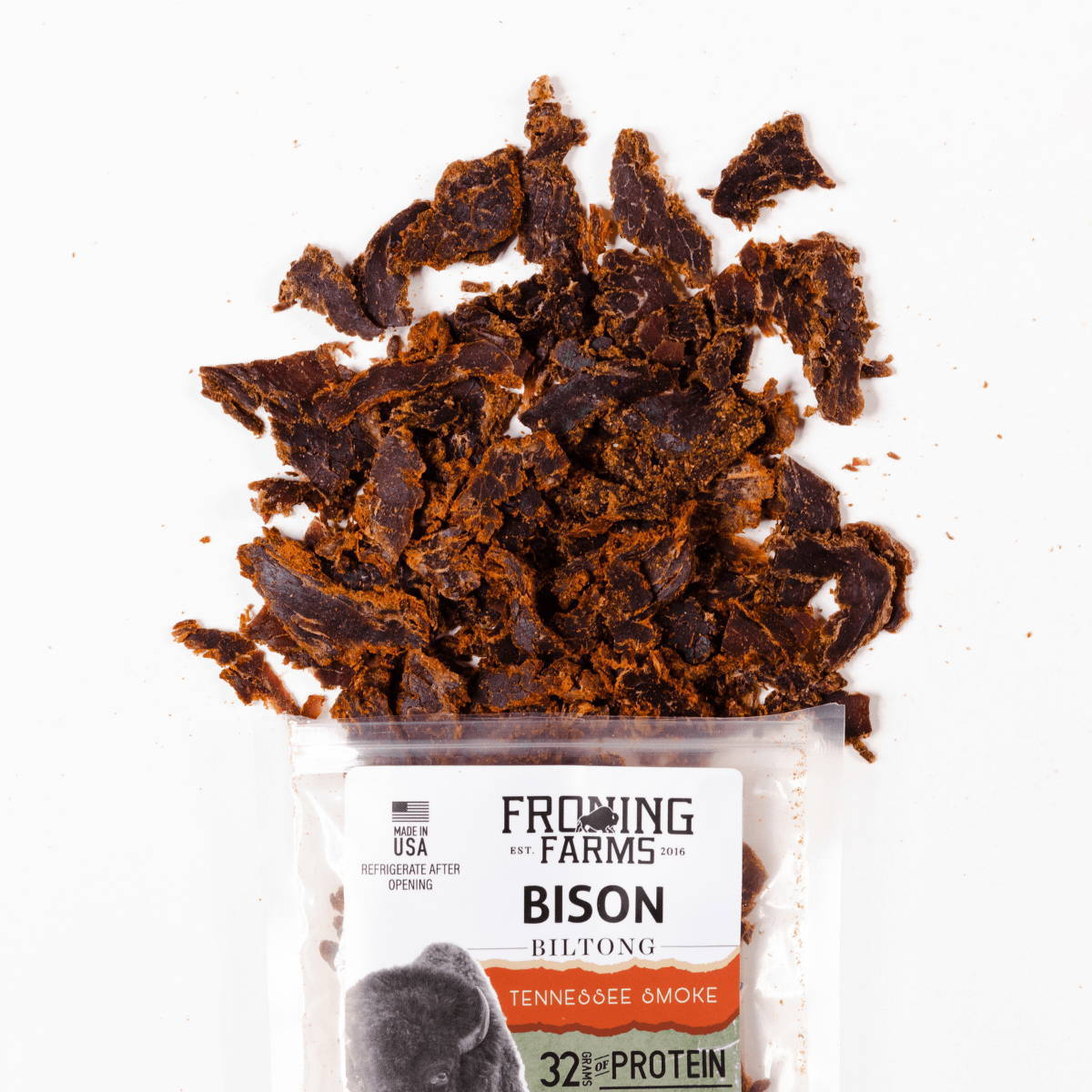 bison biltong tennesse smoke froning farms
