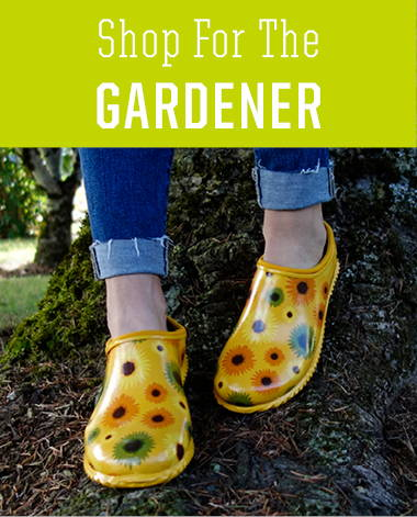 Shop holiday gifts for the gardener, featuring women's clogs and neoprene step-ins.