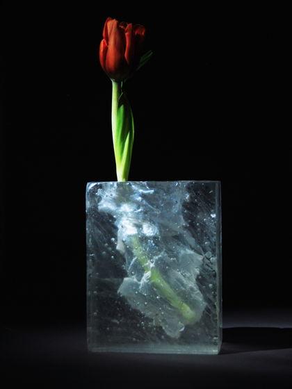 Ice structure. Стеклянная ваза