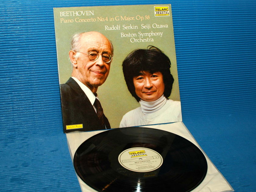 "BEETHOVEN / Serkin / Ozawa  - ""Piano Concerto No.4"" - Telarc German Import 1982"