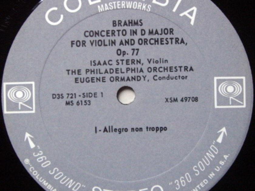 Columbia 2-EYE / STERN, - Brahms Violin Concerto, NM!