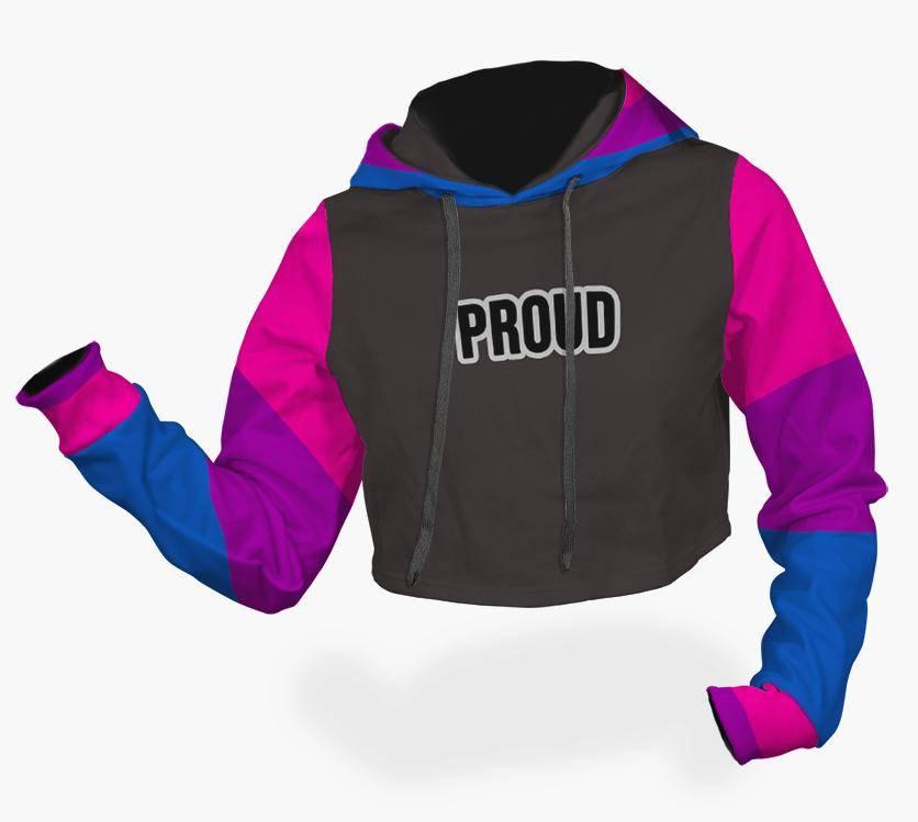 bisexual pride crop top