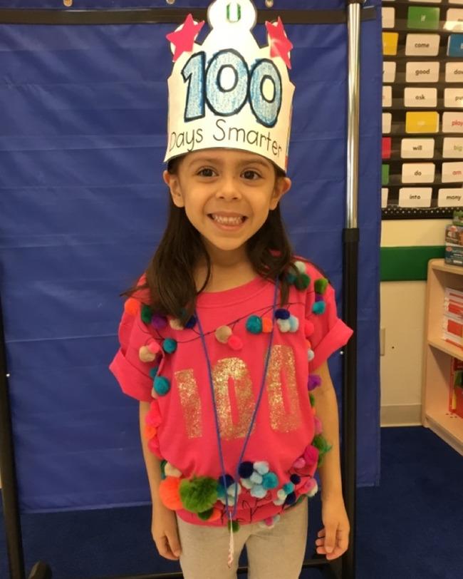 Kindergarten 100 day celebration. Kindergarten student at Primrose School of Clear Lake Child Care in Clear Lake, 77062
