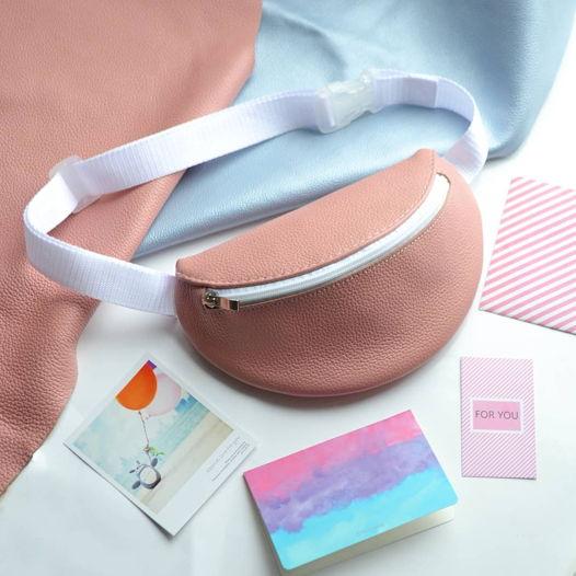 Поясная сумка из натуральной кожи