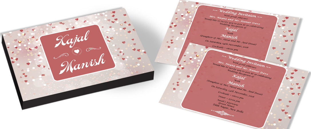 Heart Theme Wedding Invitation – CHOCOCRAFT