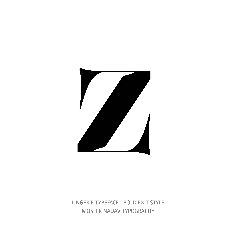 Lingerie Typeface Bold Exit z