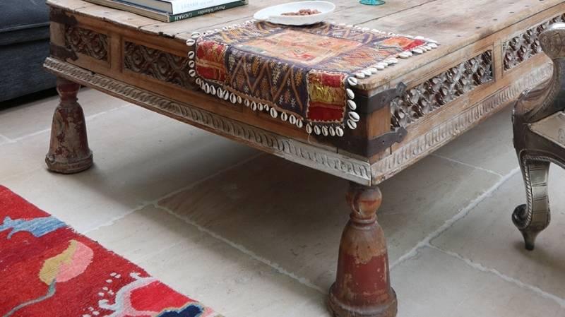 Indian Wood Takhat Coffee Tables | Indigo Atiques
