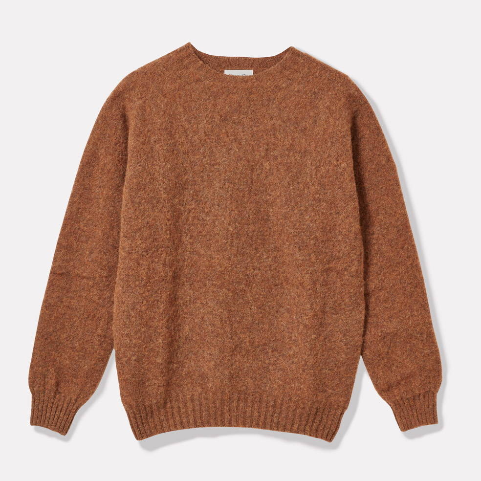 Oversized Lambswool Jumper in Pecan