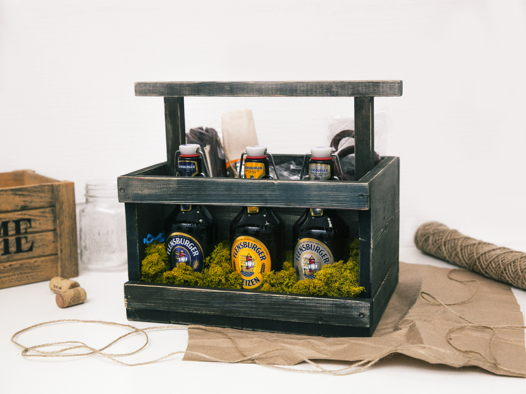 Деревянный ящик под пиво Black Beer