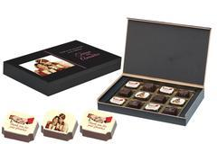 Indian Wedding Return Gifts - 12 Chocolate Box - Alternate Printed Candies (10 Boxes)