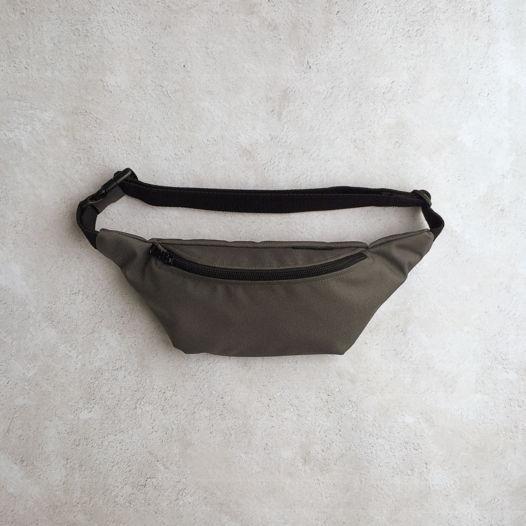 Поясная сумка из непромокаемой ткани. Темно-серая