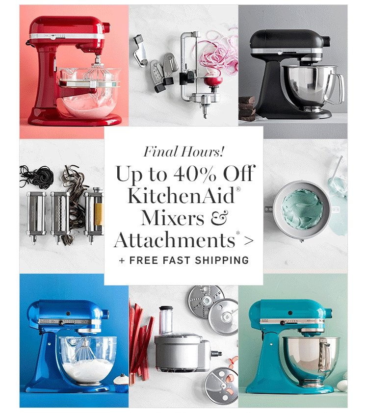 Williams-Sonoma features their best sellers for their mother's day email.