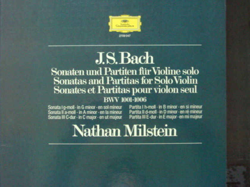 DG / NATHAN MILSTEIN, - Bach 6 Sonatas & Partitas for Solo Violin,  NM, 3LP Box Set!