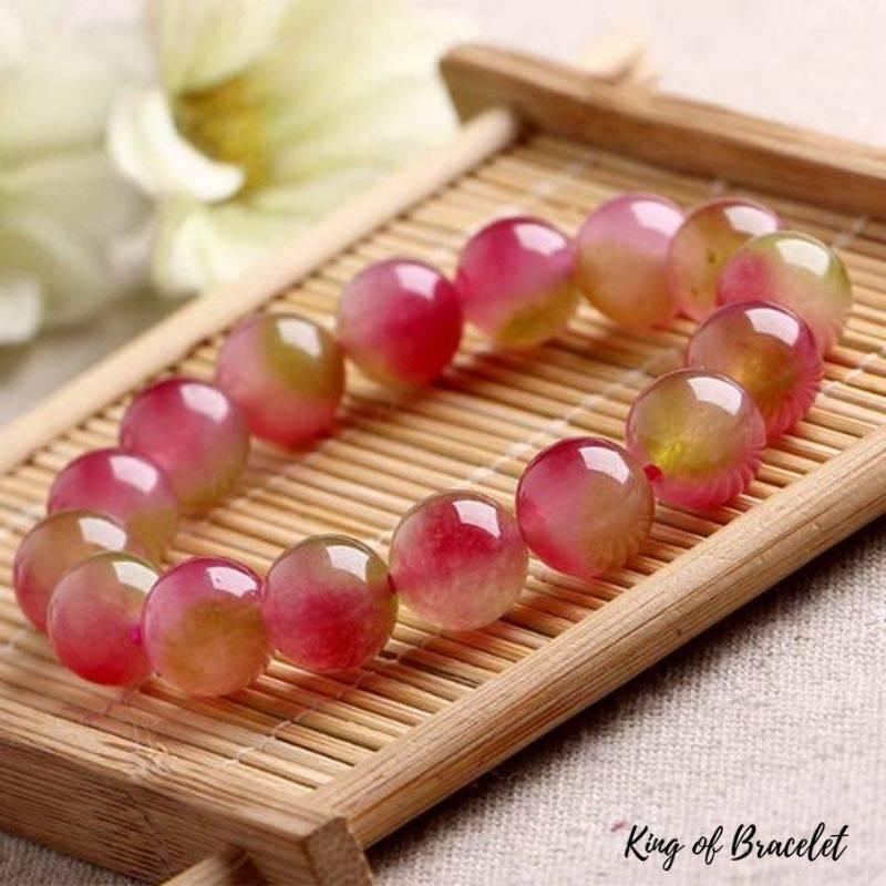 Bracelet en Perles de Tourmaline Melon d'eau - King of Bracelet