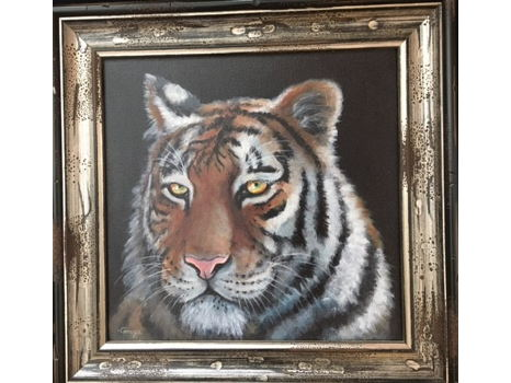 "Tiger - Original Acrylic (12""x12"")"