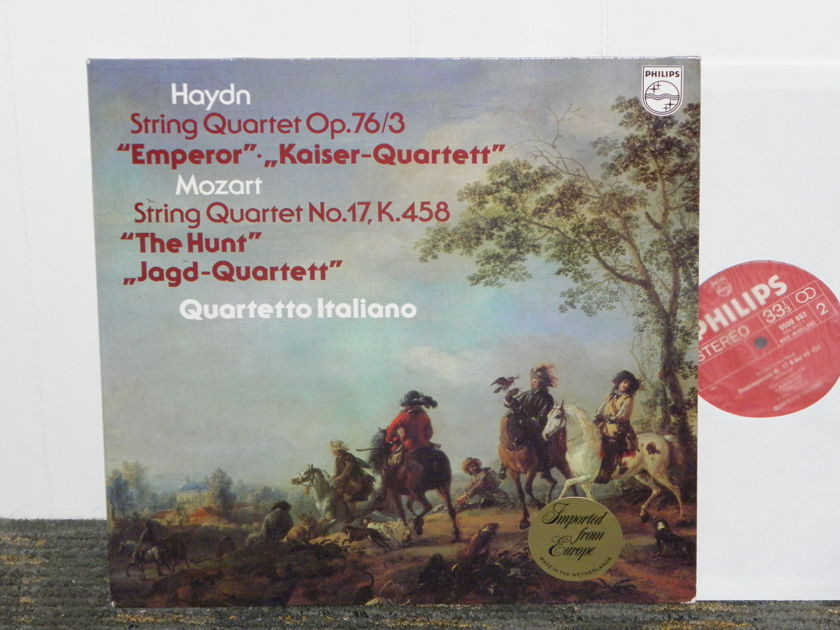"Quartetto Italiano - Haydn+Mozart  ""String Quartets""  Philips Import Pressing 9500 662 Holland"
