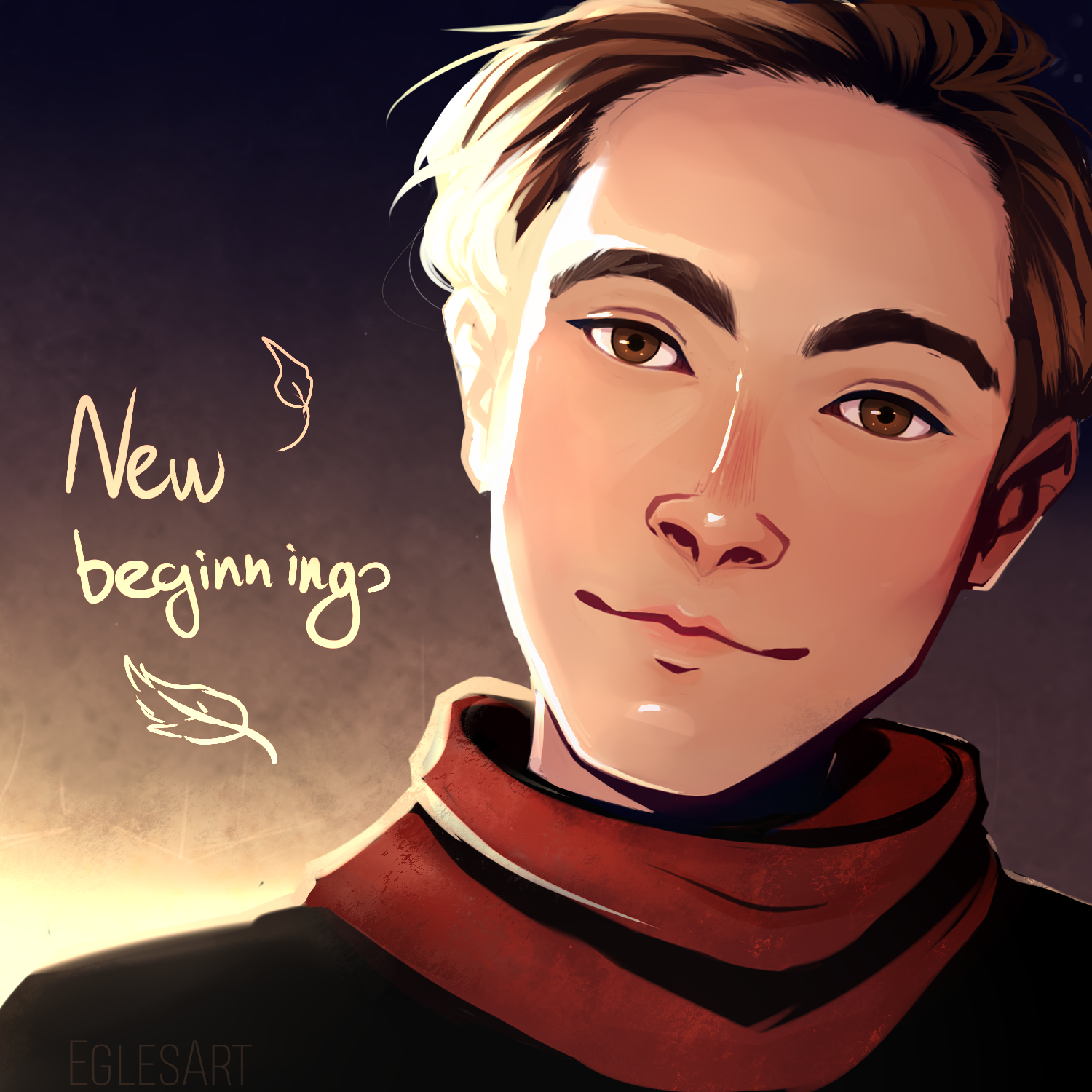 New beginnings, a drawing by Eggylyte