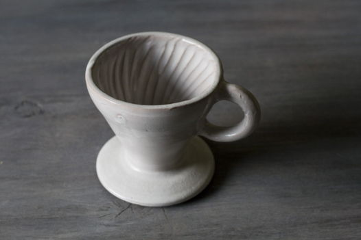 Воронка белая для пуровер-заваривания кофе
