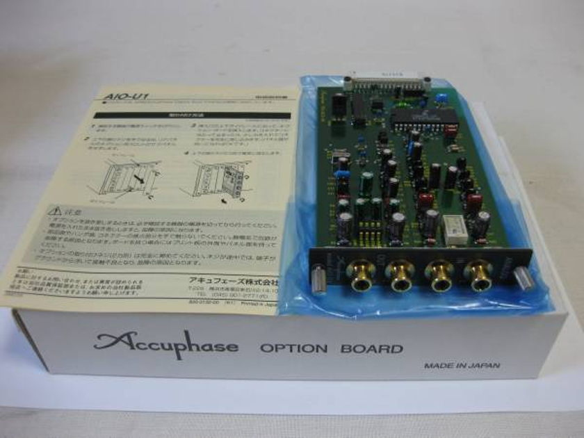 ACCUPHASE AIO-U1 ANALOG INPUTS BOARD IN EXCELLENT CONDITION