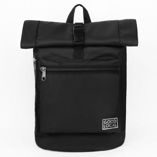"Рюкзак из ткани ""Oxford PU""  Good Local Rolltop O/Zip Black"