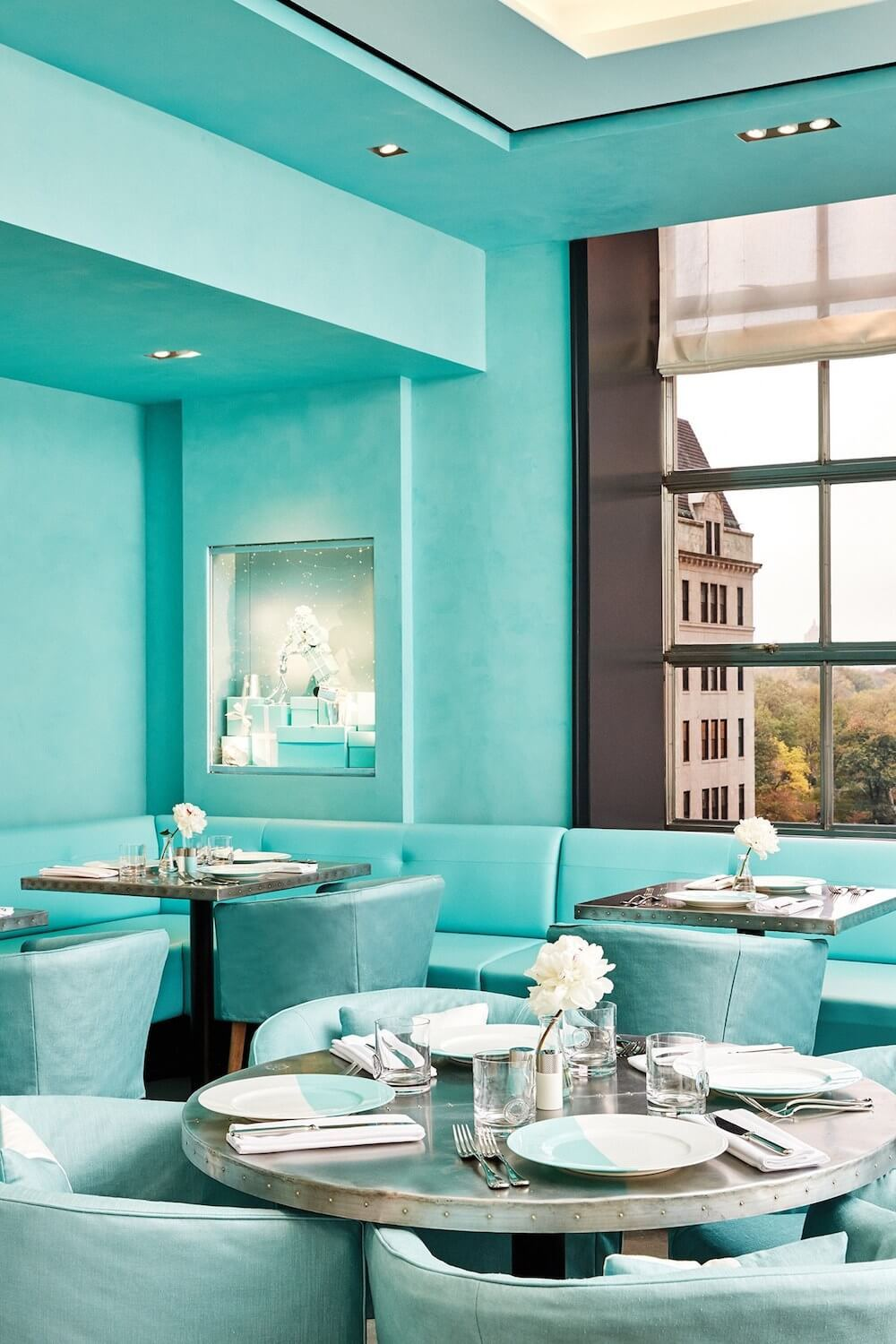 Tiffany & Co. Blue Box Cafe Interior Walls