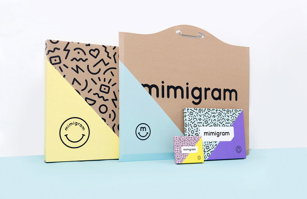 Mimigram Comes With Fun Packaging Inspired By an 80s Design