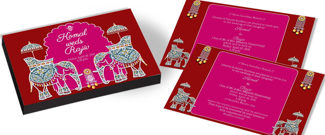 Elephant Theme Party Invitations
