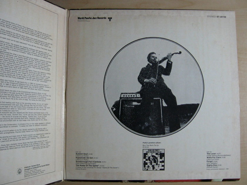 Jean-Luc Ponty - Electric Connection - 1969  World Pacific Jazz ST-20156