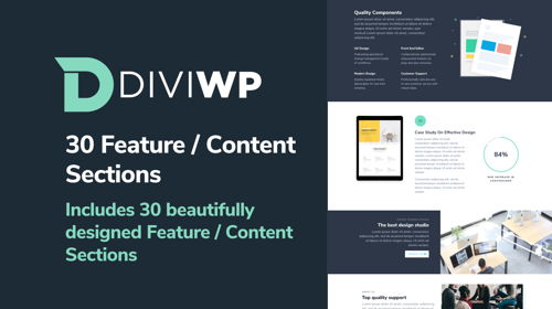 DiviWP Feature / Content Sections Layout