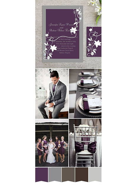 plum tie gray suit wedding inspiration