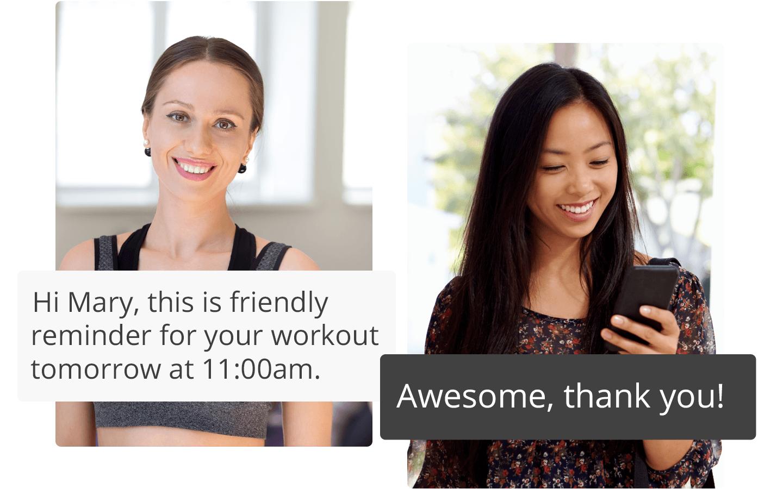 Receive reminder sms client