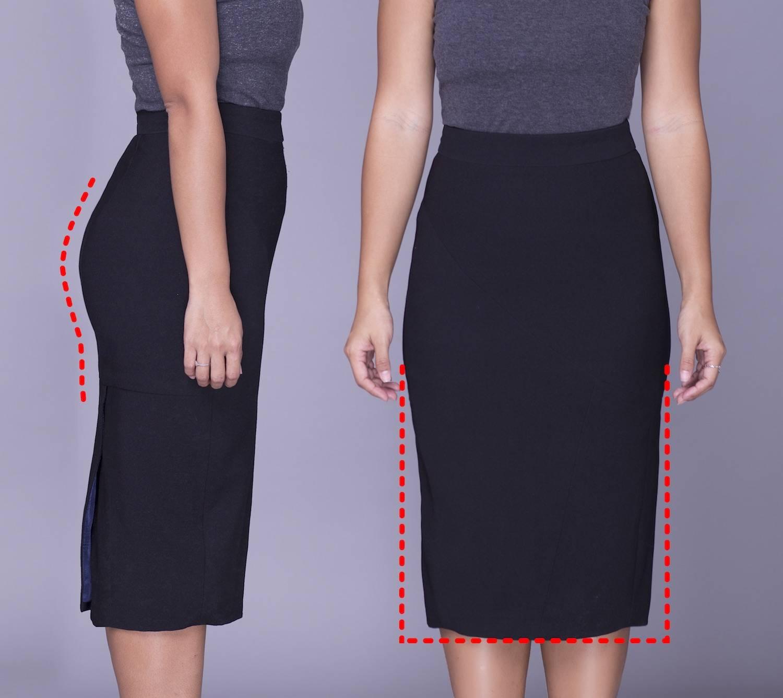 Rita Phil custom pencil skirts | Contoured fit