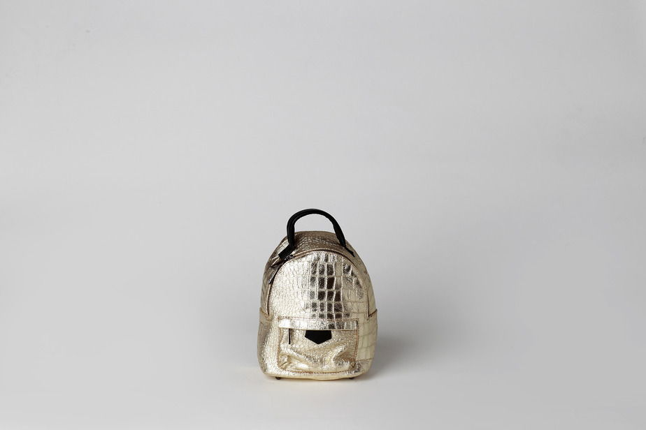 Кожаный мини рюкзак-трансформер  ORION GOLD leather backpack